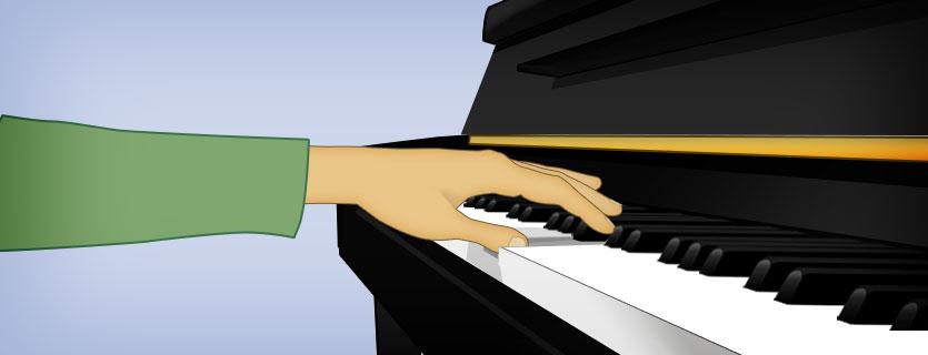 pulgar en el piano
