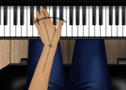 desviación cubital y radial al piano