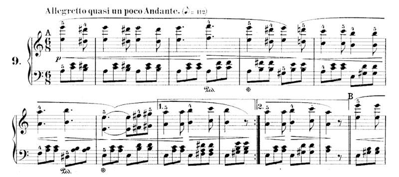 estudios para las octavas en legato