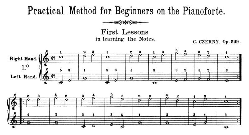Czerny Op. 599 No. 1